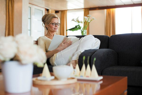 Woman reading in Suite