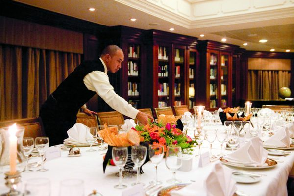 Waiter on-board Azamara