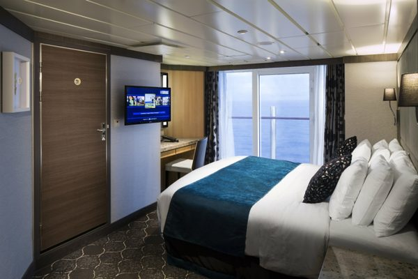 Stateroom on-board Royal Caribbean's Empress of the Seas