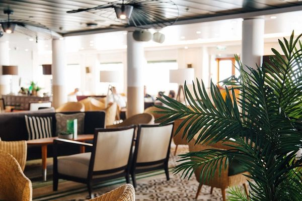 Elegant restaurant decor on-board Cruise & Maritime Columbus