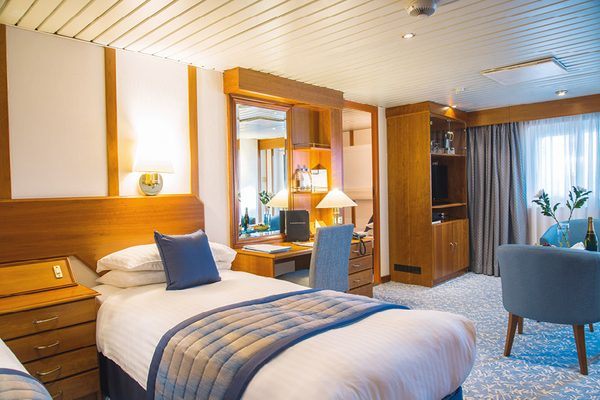 Well lit stateroom on Black Watch