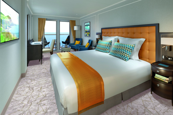 Standard Balcony stateroom on-board Saga Spirit of Discovery