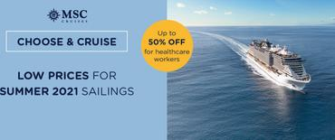 MSC Cruises Promotion and NHS discount