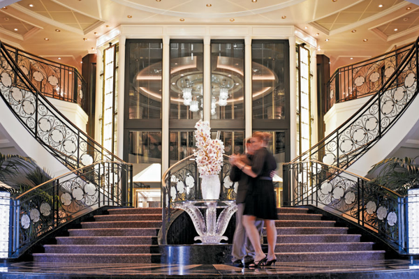Grand Staircase - Oceania Cruises