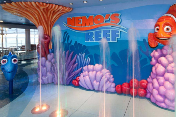The Nemo's Reef children's area on-board Disney Cruise Lines' Disney Dream