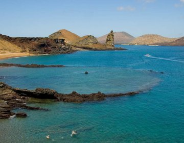 The coastal landscape of the Galapagos islands