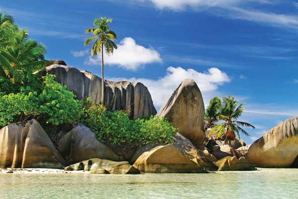 A rock formation on St Anne Island in the Seychelles