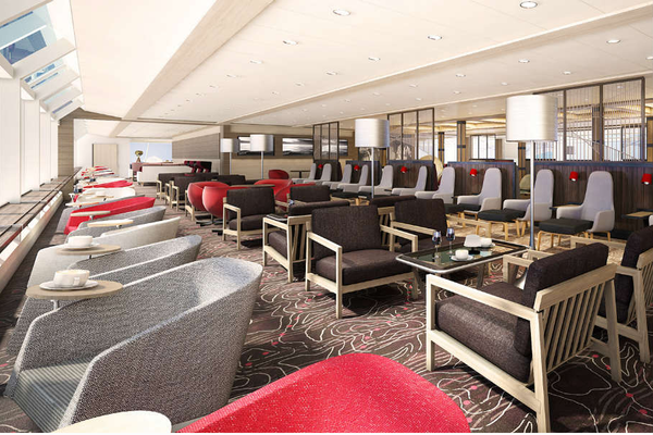 Lounge on-board Hurtigruten