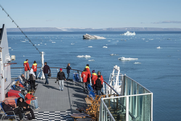 View on-board Hurtigruten