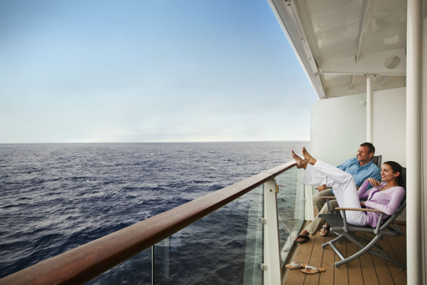 Couple on the veranda - Celebrity Cruises
