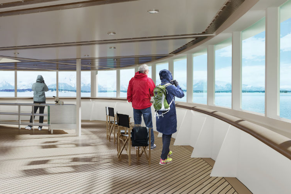 Observation Deck - Hurtigruten