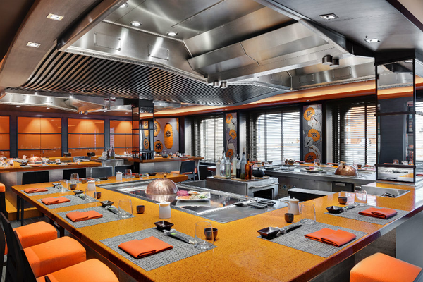 The Teppanyaki restaurant on-board MSC Grandiosa